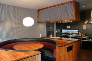 Counter Kitchen & Round Sofa