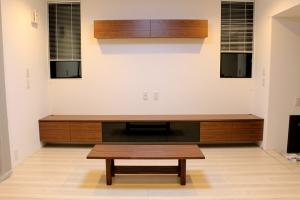 Walnut TV Board & Center Table