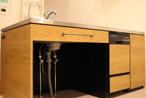 造作家具・オーク突板を使ったオーダーキッチン