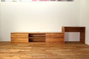 Hawaiian Koa TV Board & Cupboard