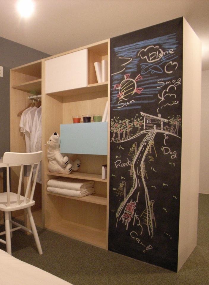 造作家具・子供部屋を2つに間仕切りするユニット式のオーダー家具